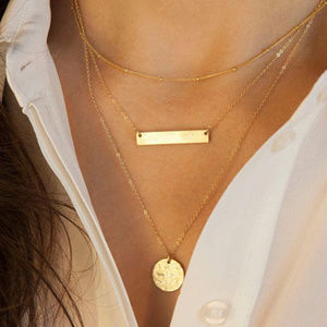 Jewelry - Layer Gold Bar Necklace